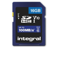 Integral SDHC 16GB Class 10 Up to 100MB/s