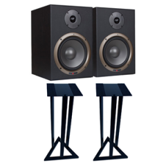 Studiospares Seiwin 8A Active Monitors + Monitor Stands