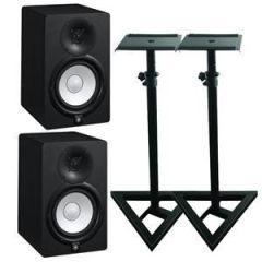 Yamaha HS5 Studio Monitors Stand Bundle