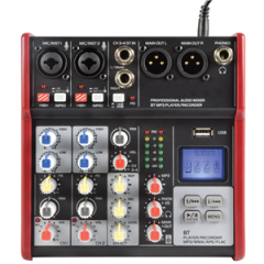 Citronic CSM-4 Compact Mixer With USB / Bluetooth 170.871UK