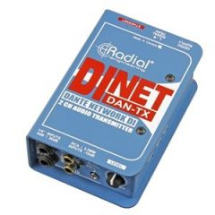 Radial DiNET DAN-TX 2-Channel Dante Audio Transmitter