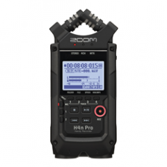 Zoom H4n Pro Black Portable Recorder + 16GB SDHC Card