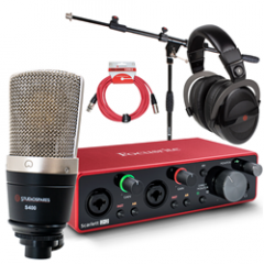 Focusrite Scarlett 2i2 Studiospares S400 Bundle with Mic Stand