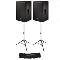 Electro-Voice ELX115 15 inch Passive Pair + Stands/Bag Bundle