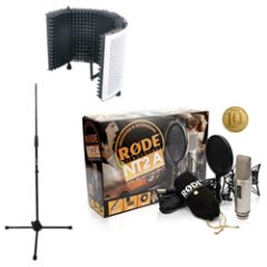 Rode NT2A + Reflection Filter White + Mic Stand (No Boom)