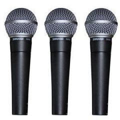 Shure SM58 Dynamic Vocal Mic (3-Pack)