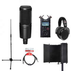 Voiceover Kit Pro with Audio Technica AT2020 - Reflection Filter Black
