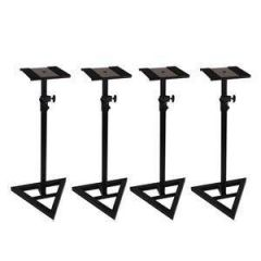Studiospares Triangle Base Speaker Stand 4 Pack