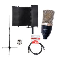 Studiospares S400 Condenser Mic Reflection Filter Black Bundle