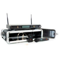 Studiospares 2.4GHz Dual Wireless HH/HS 2U Case Bundle