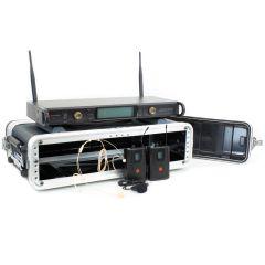 Studiospares 2.4GHz Dual Wireless HS/Lav 2U Case Bundle