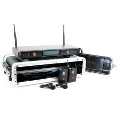Studiospares 2.4GHz Dual Wireless Dual Lav 2U Case Bundle