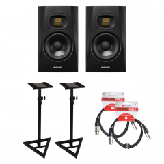 Adam T5V Bundle Monitor Stands & Leads