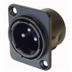 Precision XLR Male Chassis Black D Type