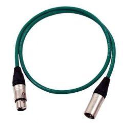 Pro Neutrik XLR Cable 1m Green