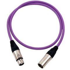 Pro Neutrik XLR Cable 1m Violet