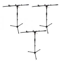 Studiospares Pro Mic Stand and Telescopic Boom 3 Pack