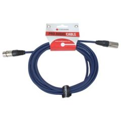 XLR Male - XLR Female Lead 10m Blue