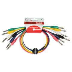 Patch Cords x6 Stereo Straight-Straight 60cm